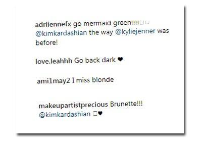 Sugestões dos seguidores para novo look de Kim (Foto: Reprodução/Instagram)