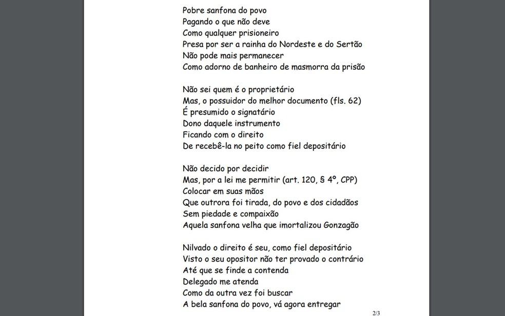 Decisão judicial concedeu instrumento para sanfoneiro da região de Senhor do Bonfim, na Bahia (Foto: Reprodução)