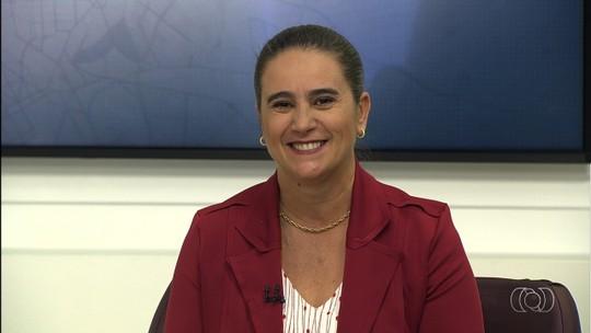 Kátia Maria, candidata ao governo de Goiás, é entrevistada no JA 1ª Edição