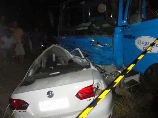 Acidente deixou quatro mortes na BA-290 (Foto:  Edvaldo Alves/ Liberdadenews.br)