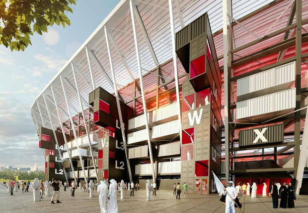 Estádio do Porto de Doha será um dos palcos dos jogos da Copa do Mundo de 2022 (Foto: 2022 Supreme Committee for Delivery and Legacy via Getty Images)
