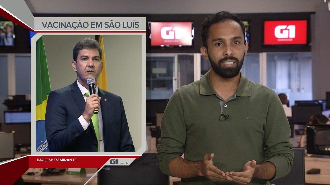 G1 em 1 Minuto: Braide prevê vacinação contra a Covid-19 em São Luís no dia 20 de janeiro