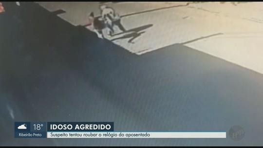 Idoso se diz assustado após ser chutado por ladrão em Cravinhos: 'pensei que ele ia me matar'