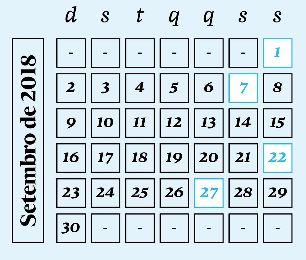 Céu do mês - Calendário  Setembro/2018 (Foto: Céu do mês - Calendário  Setembro/2018)