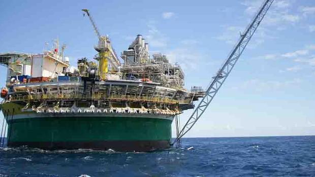 Plataforma de petróleo da Petrobras ; pré-sal ;  (Foto: Divulgação)