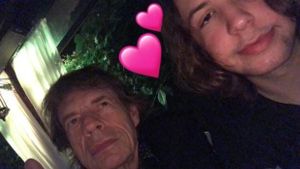 Lucas e Mick Jagger (Foto: Reprodução)