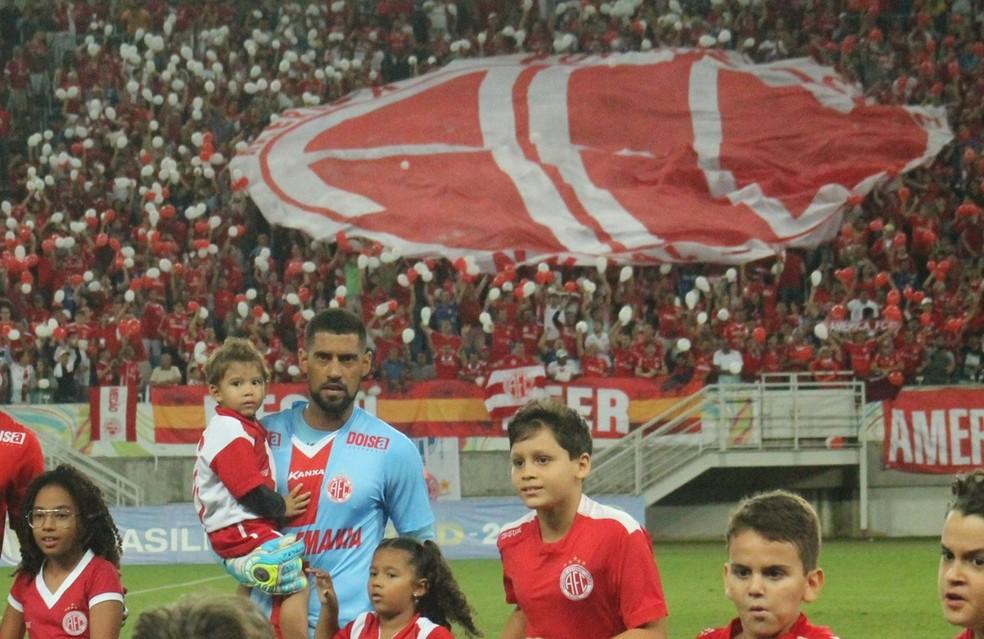 Goleiro foi o titular do Alvirrubro durante toda a Série D (Foto: Canindé Pereira/América FC)