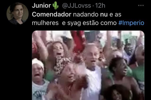 Reação no Twitter sobre a cena de 'Império' (Foto: Reprodução)