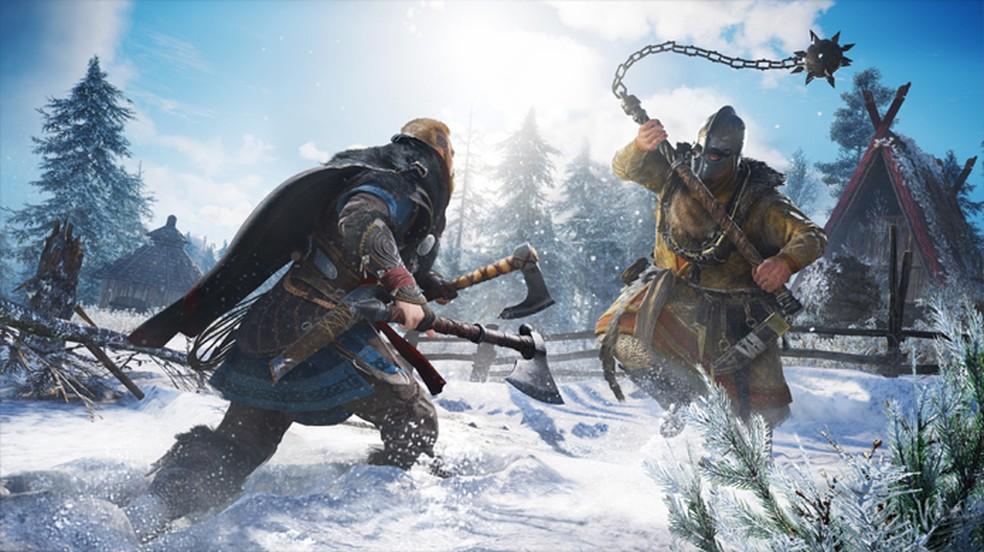 Assassin's Creed Valhalla trará combates brutais no PlayStation 5 com sua nova temática viking — Foto: Divulgação/Ubisoft