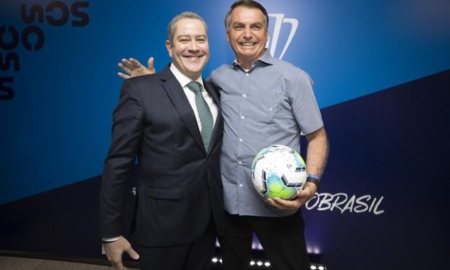 Rogerio Caboclo e Jair Bolsonaro