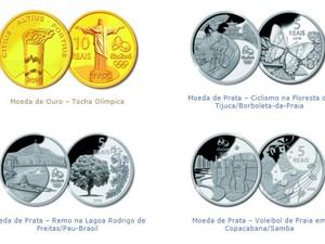 Moedas comemorativas dos Jogos Olímpicos Rio 2016 (Foto: Reprodução/Banco Central)