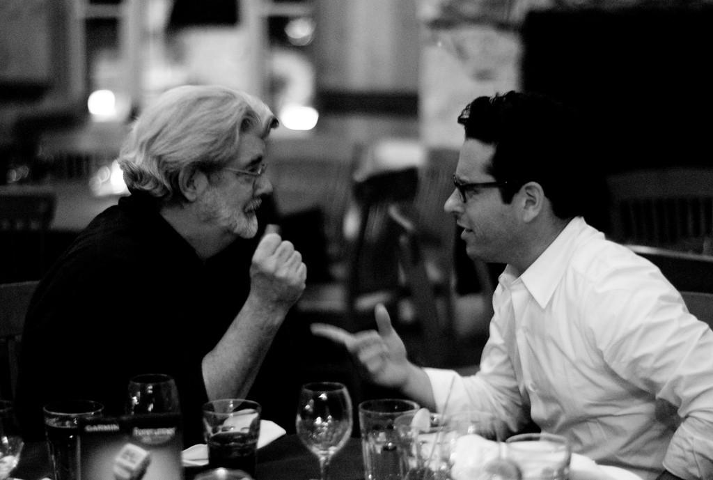 George Lucas com JJ Abrams (Foto: Flickr/Joi Ito)