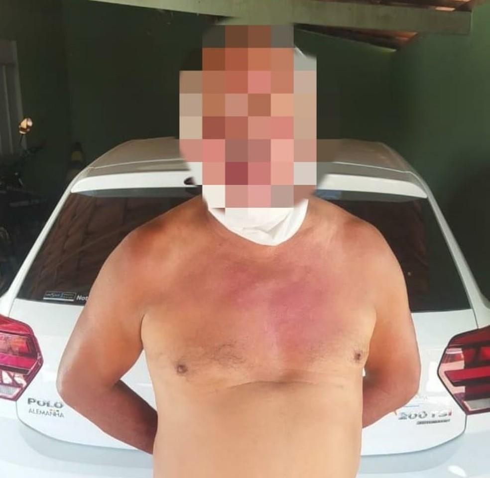 João de Deus Filho Araújo foi preso pela PM — Foto: Divulgação/PM-PI
