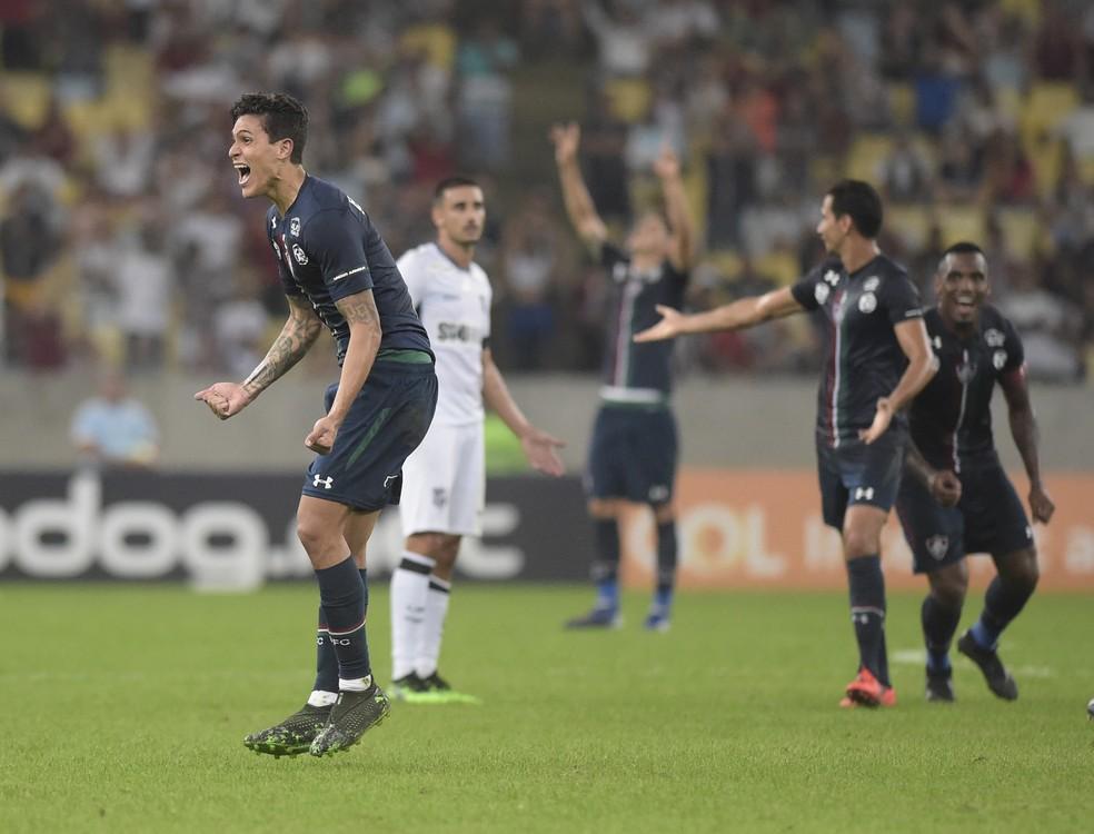 Pedro comemora gol do Fluminense contra o Ceará — Foto: André Durão