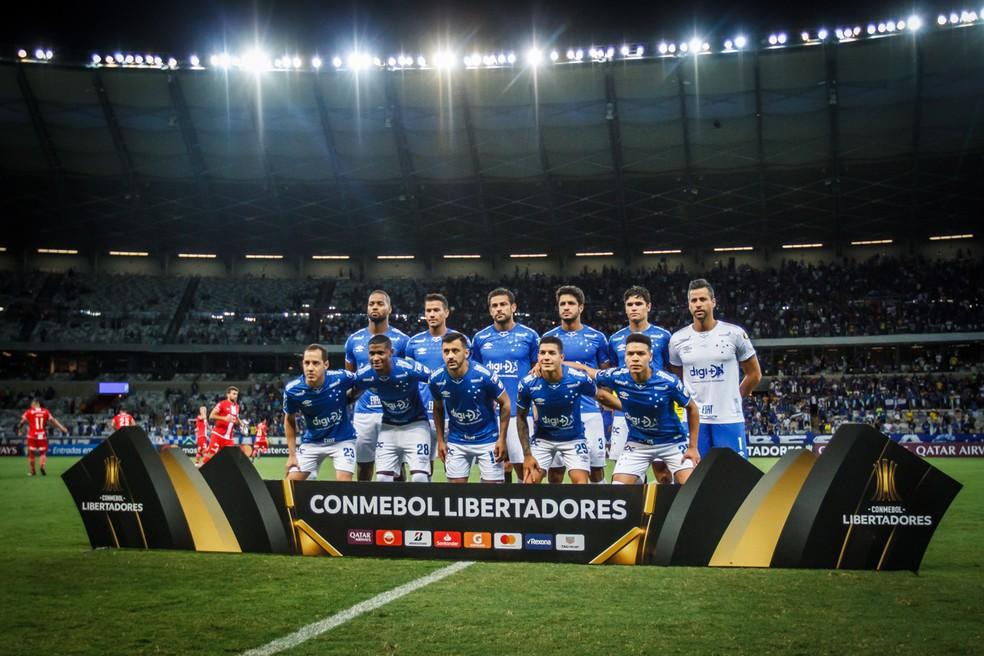 Cruzeiro é o único time com 100% de aproveitamento na fase de grupos da Libertadores — Foto: Vinnicius Silva/Cruzeiro