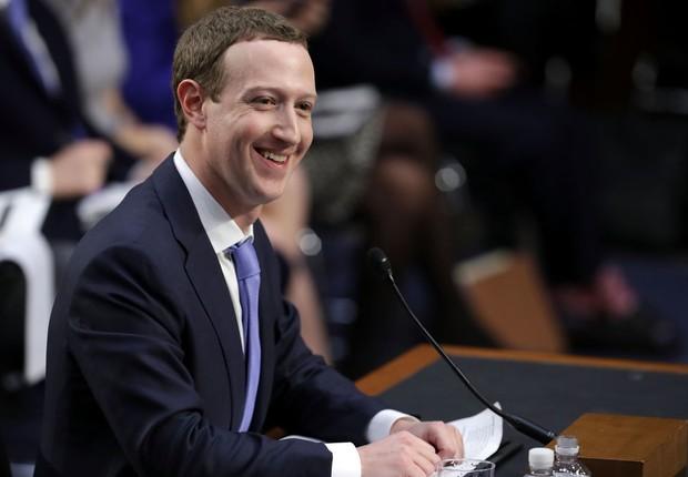 Mark Zuckerberg, CEO do Facebook, no Senado dos EUA (Foto: Chip Somodevilla/Getty Images)