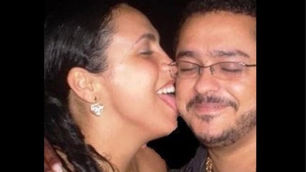 Bibi Perigosa com o então marido, Saulo Sá e Silva, ex-barão do pó da Rocinha (Foto: Arquivo pessoal)