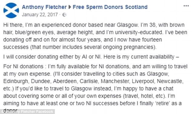 O recado de Anthony Fletcher em um grupo no Facebook (Foto: Reprodução)