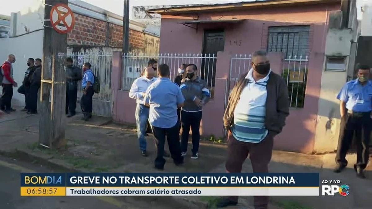 Motoristas do transporte coletivo de Londrina fazem paralisação