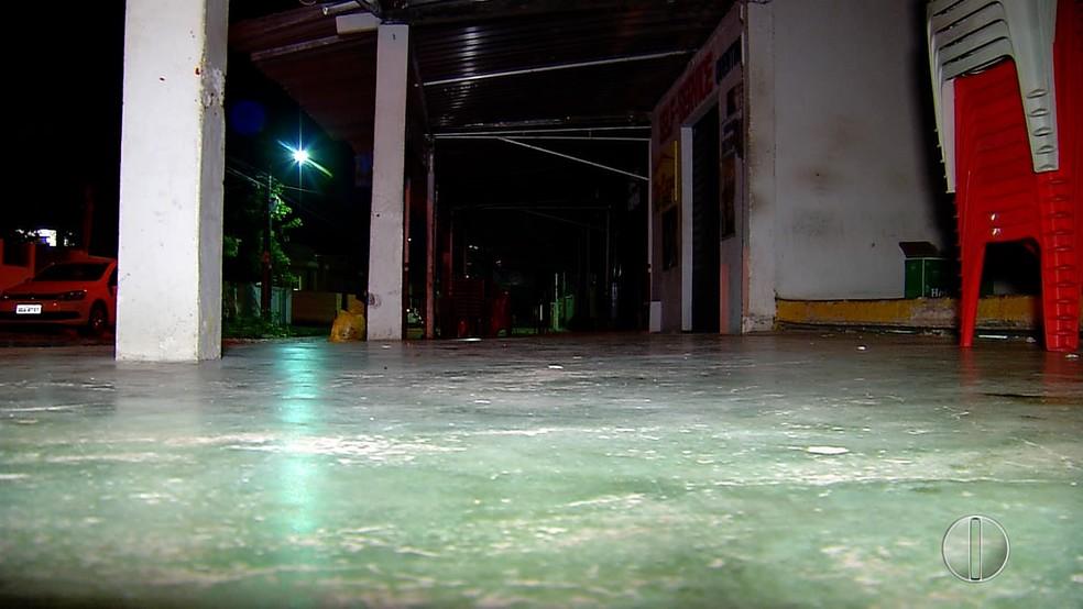 Bar foi alvo de um arrastão na Zona Sul de Natal (Foto: Reprodução/Inter TV Cabugi)