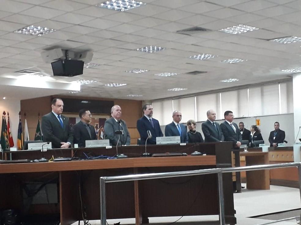 Ministro Dias Toffoli, presidente do STF, esteve nesta segunda-feira (10) em Vitória  — Foto: André Rodrigues / G1 ES
