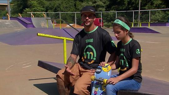 Ex-traficante tem segunda chance através do skate e leva a filha de 14 anos à seleção brasileira