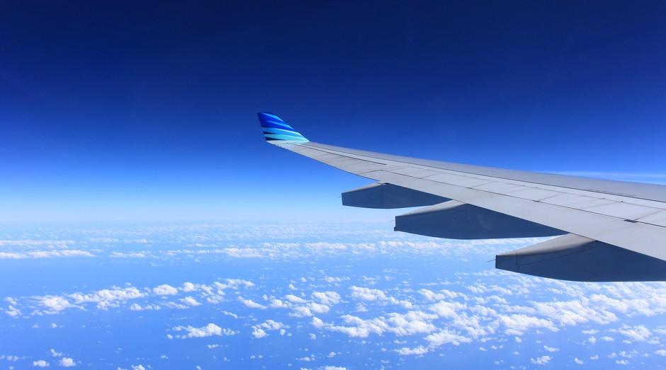 avião, asa, céu (Foto: Reprodução/Pexels)
