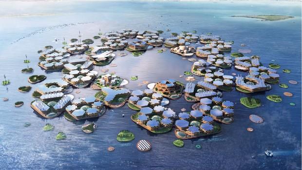 Projeto da Oceanix City (Foto: Reprodução/Oceanix)