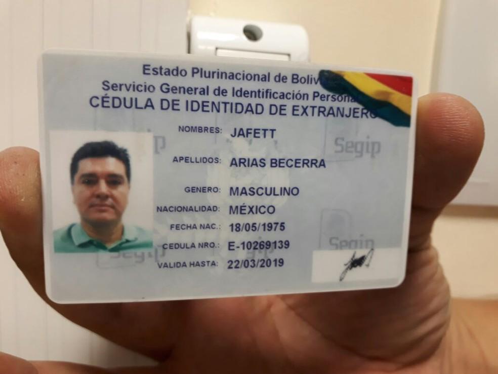Líder de cartel do México foi preso com documento falso na Grande Fortaleza — Foto: Arquivo pessoal