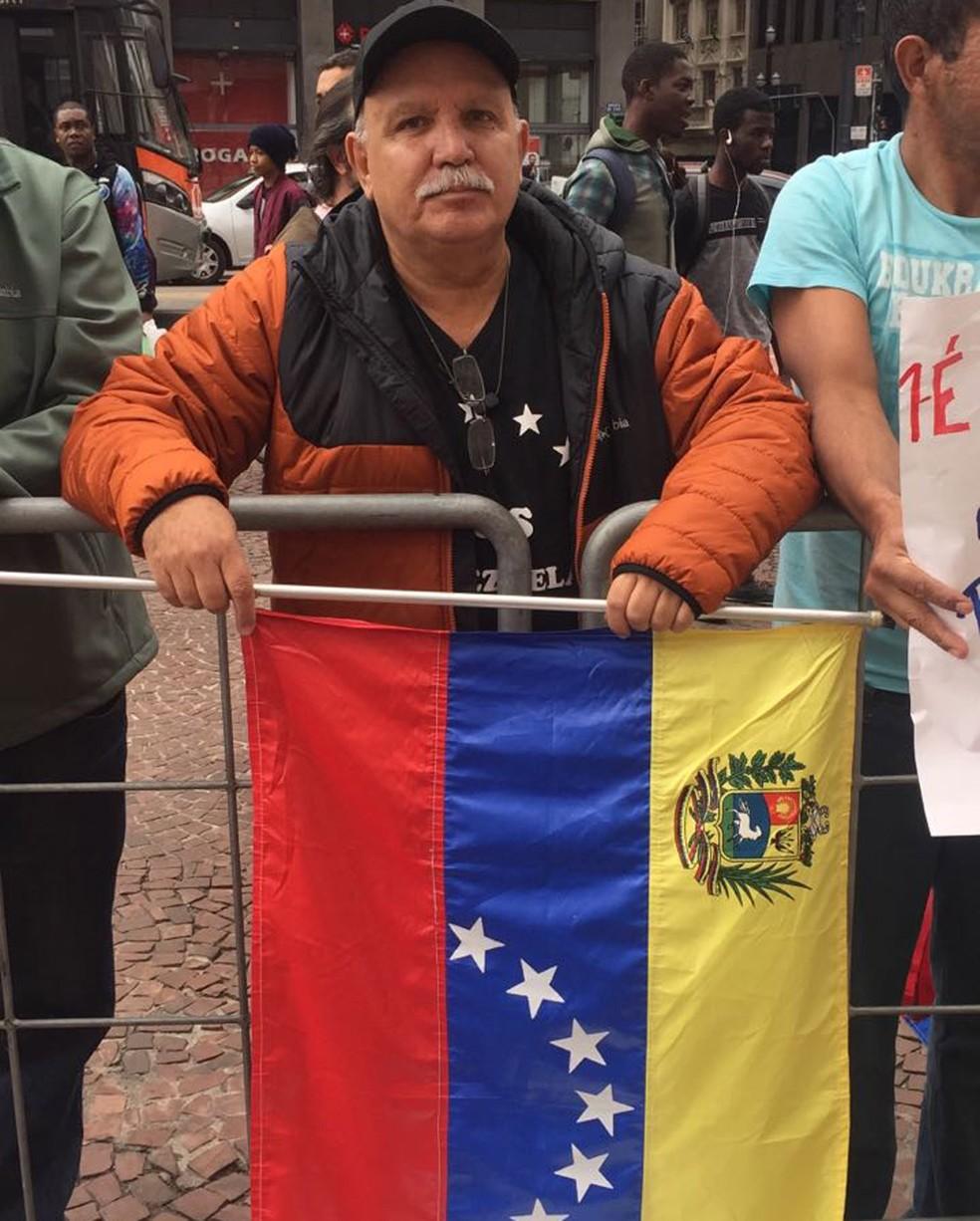 Há 15 anos no Brasil, Geraldo Garcia lamentou a violação dos direitos humanos em seu país de origem (Foto: Gabriela Bazzo/G1)