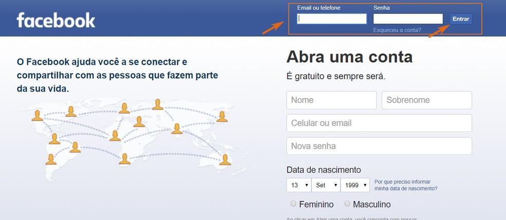 Acesse sua conta do Facebook pelo computador (Foto: Barbara Mannara/TechTudo)