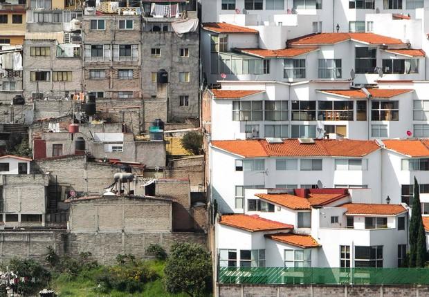Desigualdade na Cidade do México (Foto: Johnny Miller)