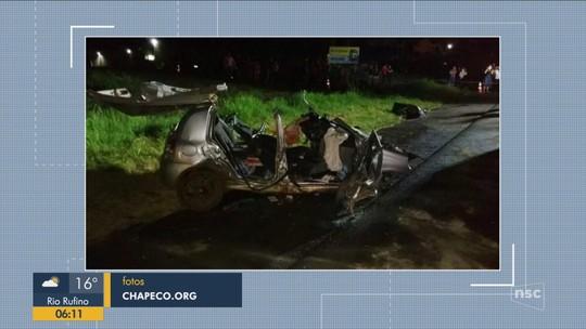 Mãe e filho bebê morrem em acidente na BR-282 no Oeste de SC