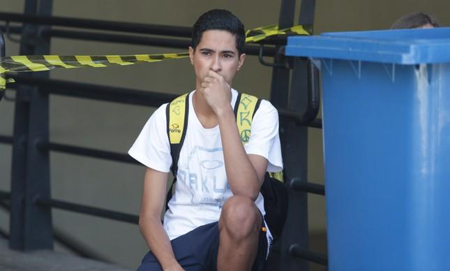 Lucas de Souza Delfino mostrou frustração por perder a prova