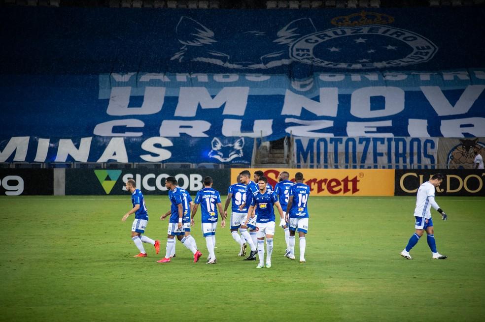 Time do Cruzeiro antes de duelo com o Juventude — Foto: Gustavo Aleixo / Cruzeiro