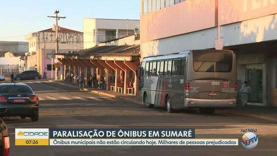 Protesto para linhas  municipais e intermunicipais de ônibus em Sumaré; motoristas reivindicam segurança
