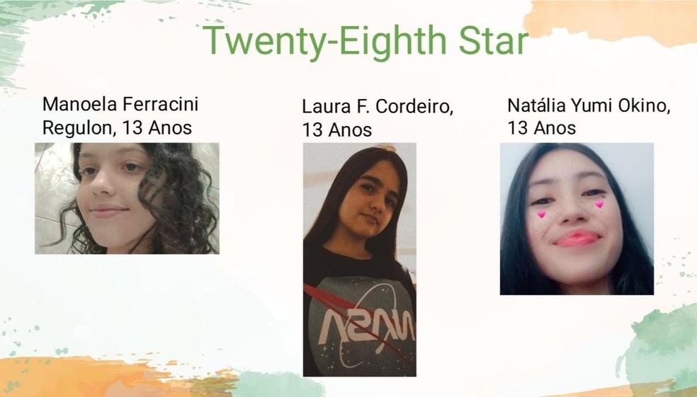 Alunas de 13 anos da rede estadual de São Carlos (SP) ganham 2º lugar em competição da Nasa — Foto: Reprodução