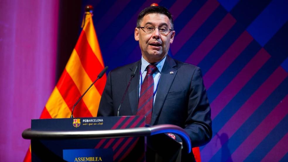 Josep Maria Bartomeu, presidente do Barcelona — Foto: divulgação