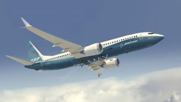 Ilustração de um Boeing 737 Max-8 em voo (Foto: Boeing)