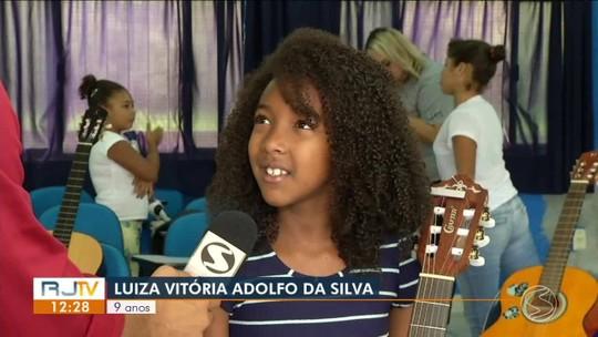 Projeto oferece aulas de música gratuitas para crianças em Quatis