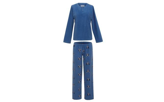 Pijama Soft Family Bulldog | Confeccionado em 100% poliéster, o charme está no tecido leve e na estampa de cachorrinho | Da Any Any, R$229,00 (Foto: Divulgação)