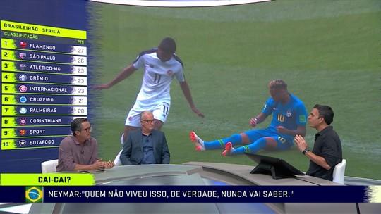 """Criticado por simulações na Copa, Neymar afirma: """"Minhas costas são bem largas"""""""