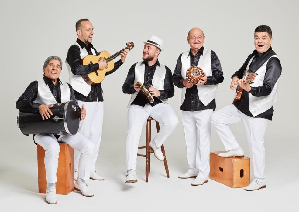 Ícone da música brasileira, o grupo Demônios da Garoa foi fundado em 1943 na Mooca, tradicional bairro de São Paulo  — Foto: Divulgação