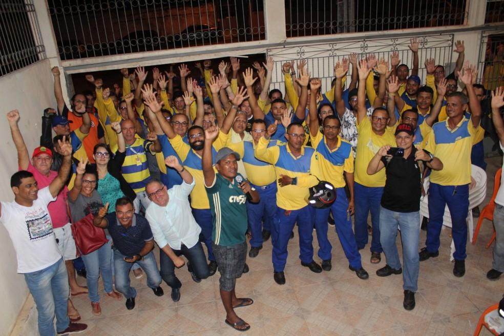 Servidores dos Correios no Maranhão deflagraram greve após assembleia geral — Foto: Divulgação / Sintect-MA