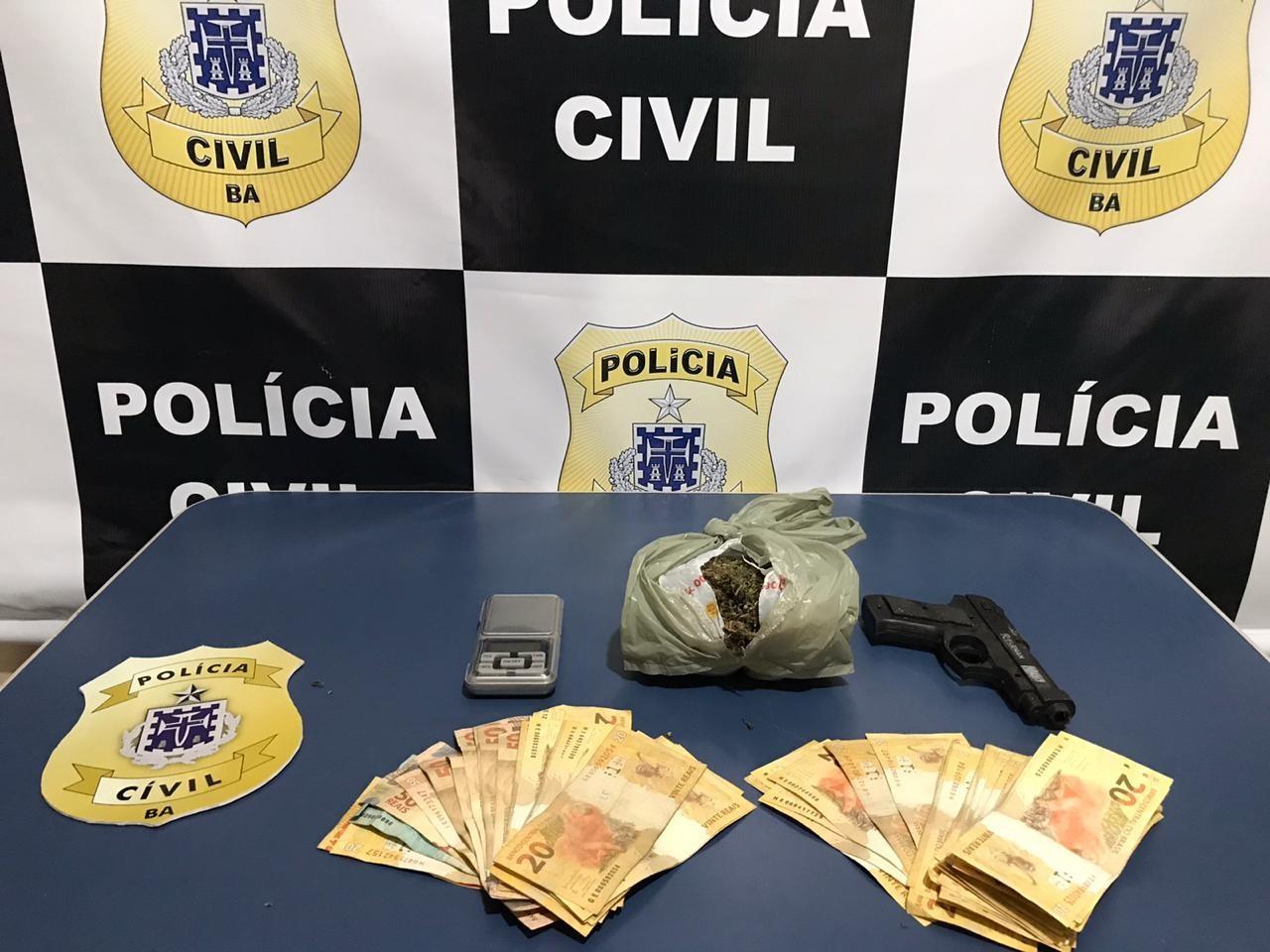 Suspeito de envolvimento no tráfico de drogas é preso em flagrante na Bahia