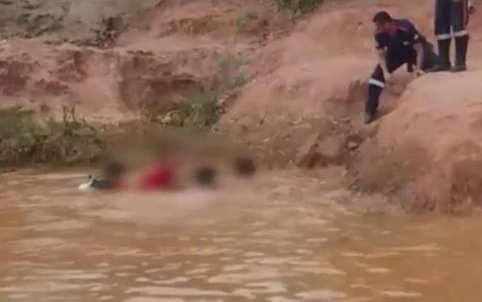 Adolescente morre afogado em lago de Luziânia — Foto: Reprodução/TV Anhanguera