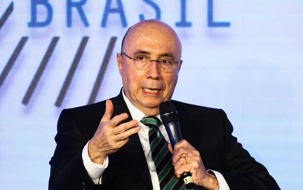 O candidato à presidência da República pelo MDB, Henrique Meirelles, no GovTech Brasil (Foto: Aloisio Mauricio/Foto Arena/Estadão Conteúdo)