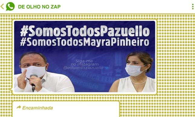 Lista no Telegram criada para enaltecer Pazuello homenageou Mayra Pinheiro, que foi sua subordinada no Ministério da Saúde
