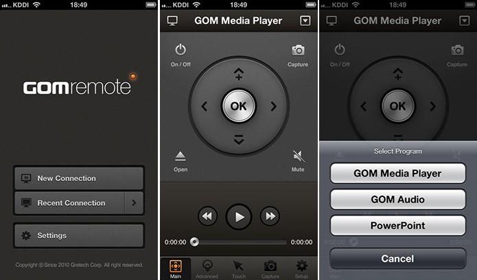 GOM Remote controla apresentação de slides e reprodução de músicas e videos (Foto: Divulgação/App Store)