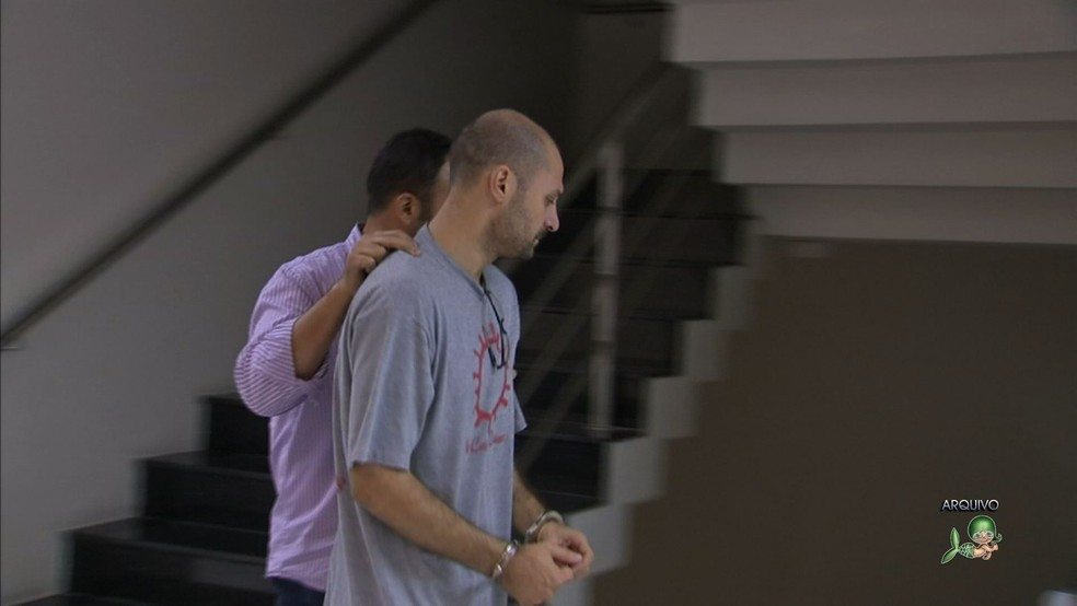 Marcelo Barberena é acusado de matar a mulher e a filha (Foto: TV Verdes Mares/Reprodução)